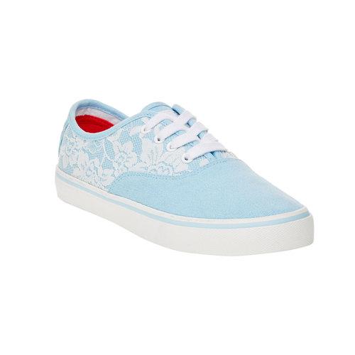 Sneakers con pizzo north-star, viola, 549-9222 - 13