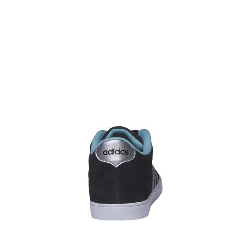 Sneakers informali in pelle scamosciata adidas, nero, 503-6685 - 17