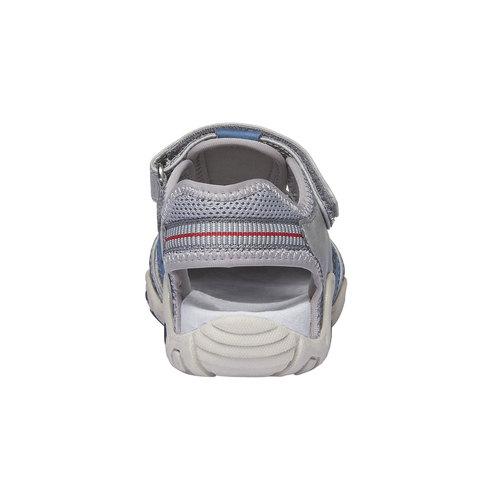 Sandali da bambino con punta chiusa mini-b, grigio, 361-2173 - 17
