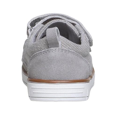 Sneakers da bambino in pelle mini-b, grigio, 313-2204 - 17