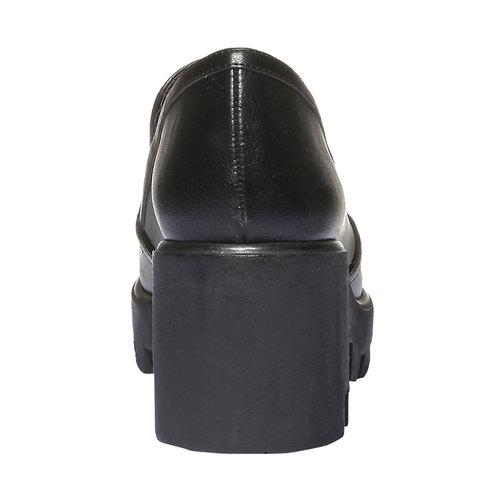 Slip-on con suola massiccia bata, nero, 521-6216 - 17