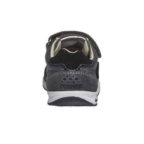 Sneakers in pelle con chiusure a velcro primigi, grigio, 113-2136 - 17