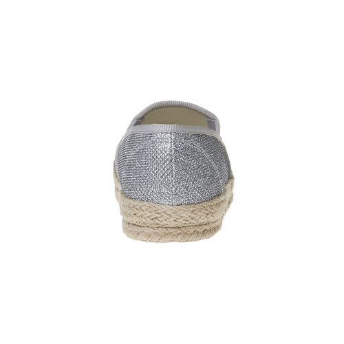 Slip-on argentate da donna bata, bianco, 559-1107 - 17