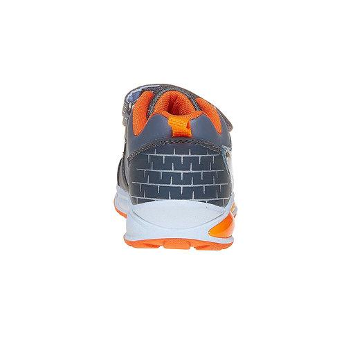 Sneakers da bambino con chiusure a velcro mini-b, grigio, 211-2170 - 17