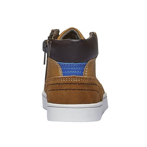 Sneakers da bambino alla caviglia mini-b, giallo, 211-8124 - 17