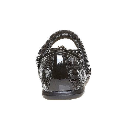 Ballerine da ragazza con glitter mini-b, nero, 229-6162 - 17