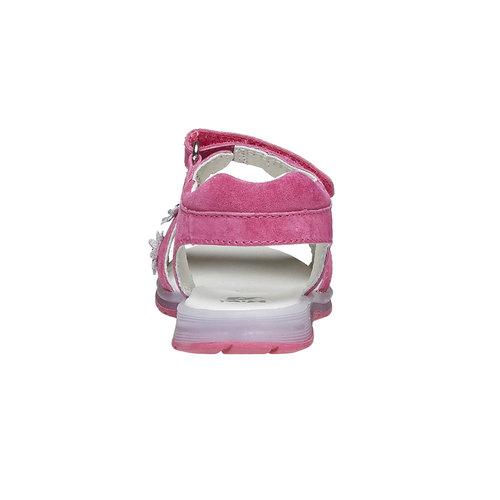 Sandali in pelle con fiori mini-b, rosa, 263-5163 - 17