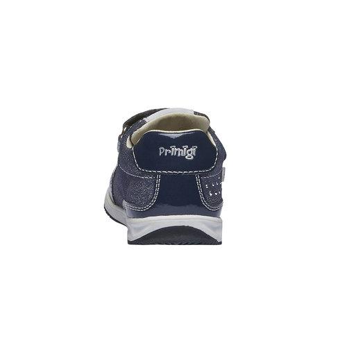 Sneakers in pelle con chiusure a velcro primigi, viola, 123-9134 - 17