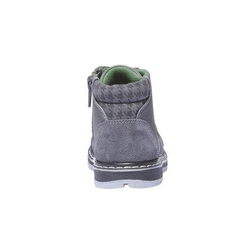Scarpe di pelle alla caviglia mini-b, grigio, 211-2138 - 17