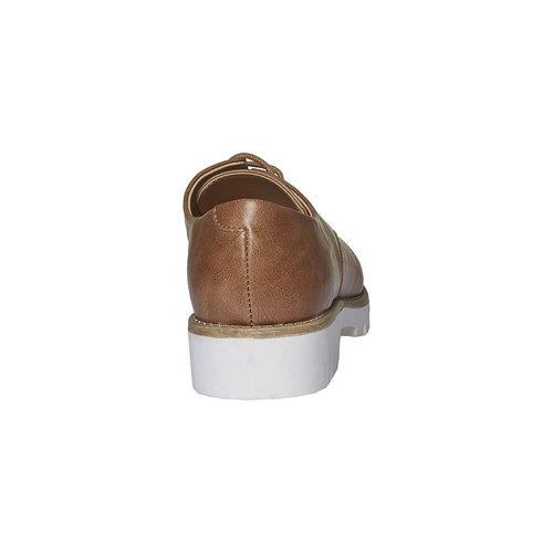 Scarpe basse con suola appariscente bata, marrone, 521-3480 - 17