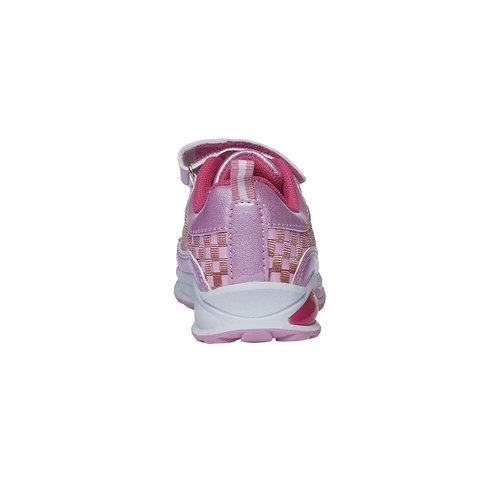 Sneakers da ragazza con chiusura a velcro mini-b, nero, 221-6119 - 17