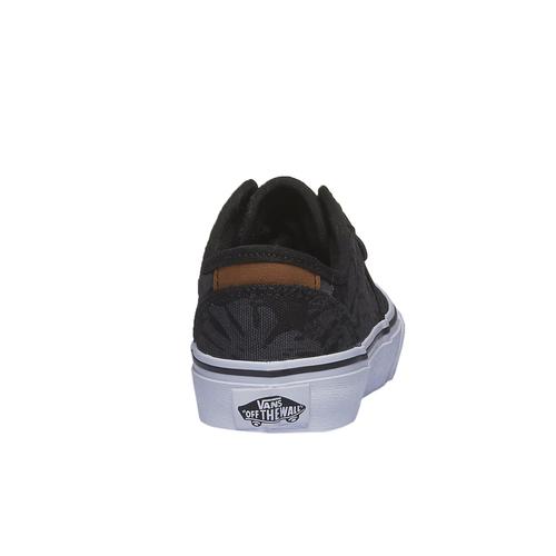 Sneakers da bambino con stampa vans, nero, 489-6198 - 17