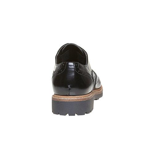 Scarpe basse da donna verniciate bata, nero, 511-6194 - 17