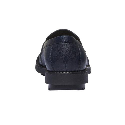 Scarpe di pelle in stile Loafer flexible, viola, 514-9185 - 17