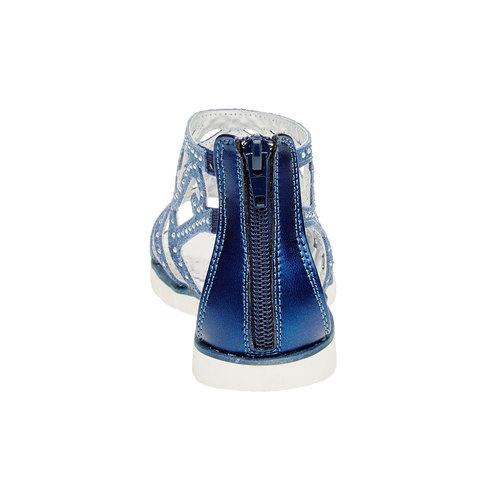 Sandali in pelle con pietre mini-b, blu, 363-9170 - 17