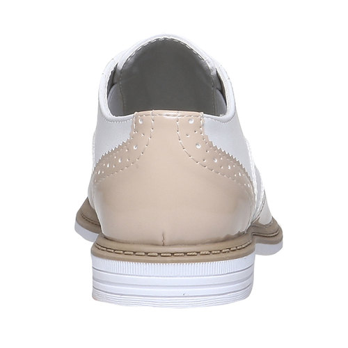 Scarpe basse da bambino in stile Spectator shoes mini-b, rosso, 321-5178 - 17