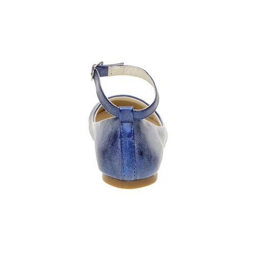 Ballerine blu con cinturino mini-b, blu, 321-9181 - 17