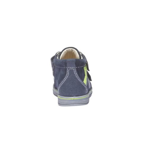 Scarpe in pelle alla caviglia con chiusure a velcro primigi, blu, 113-9121 - 17