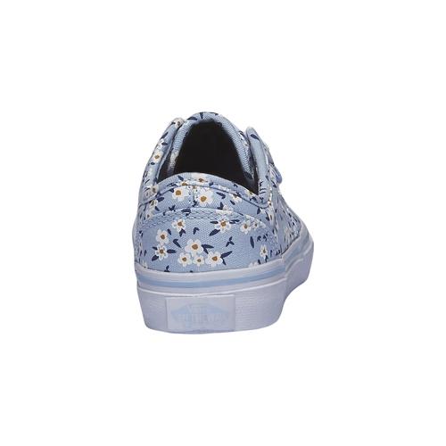Sneakers da bambina con stampa di fiori vans, viola, 389-9107 - 17