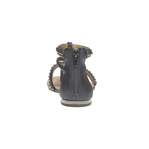 Sandali da donna con strisce decorate bata, nero, 561-6330 - 17