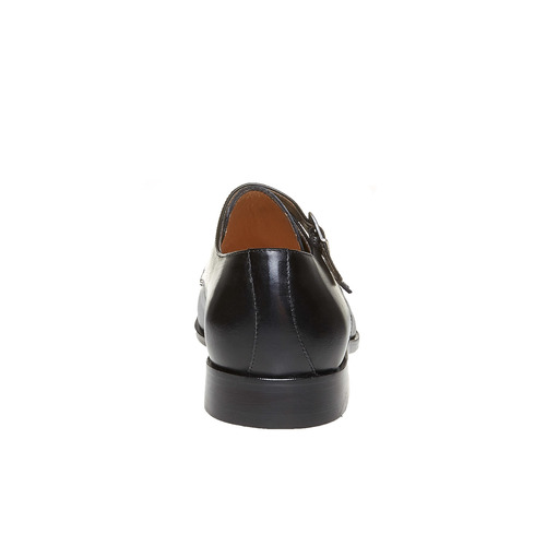 Scarpe basse di pelle in stile Monk bata-the-shoemaker, nero, 814-6159 - 17