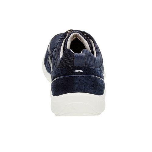 Sneakers informali di pelle bata-comfit, blu, 843-9643 - 17