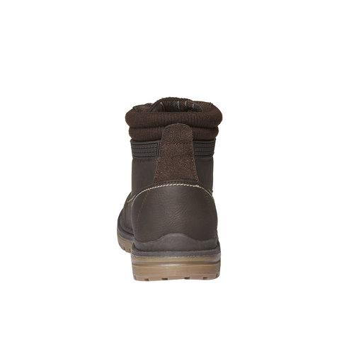 Scarpe alla caviglia con suola appariscente bata, marrone, 891-4438 - 17