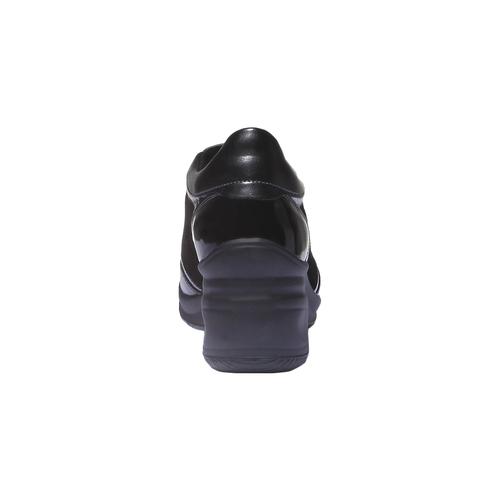 Sneakers con zeppa bata, nero, 621-6120 - 17