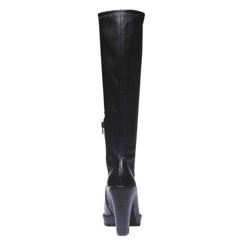 Stivali con suola massiccia bata, nero, 791-6591 - 17