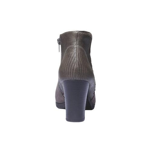 Scarpe da donna alla caviglia bata, grigio, 791-2403 - 17
