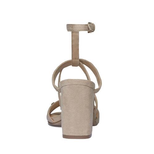 sandalo da donna con tacco bata, beige, 769-8534 - 17