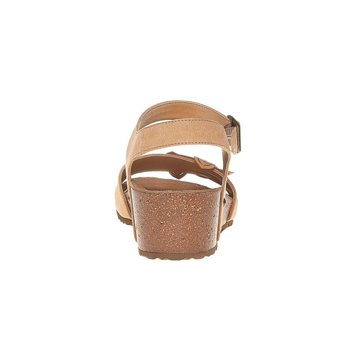 Sandali con tacco a zeppa bata, beige, 569-8403 - 17