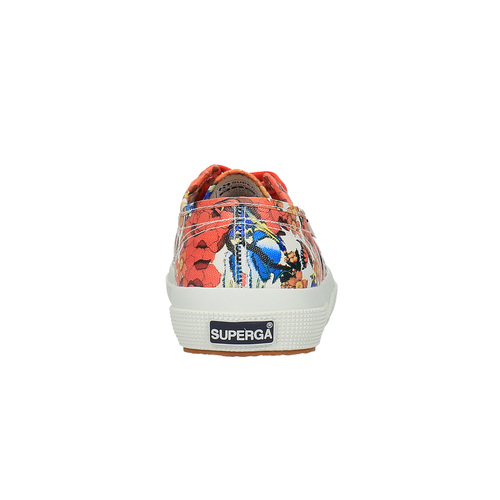 Sneakers da donna con stampa colorata superga, rosso, 589-5219 - 17