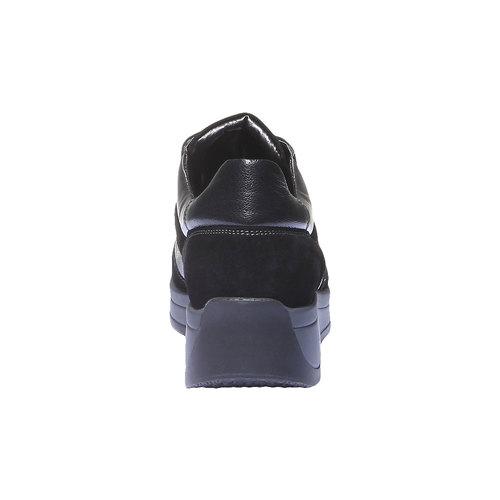 Sneakers in pelle bata, nero, 624-6126 - 17