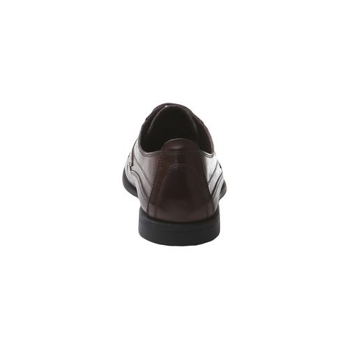 Scarpe in pelle con lacci bata-comfit, marrone, 854-4836 - 17