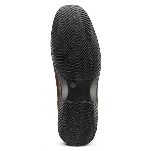 Scarpa in pelle da uomo bata, marrone, 844-4325 - 17