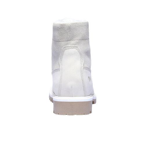 Scarpe in pelle con suola a carrarmato weinbrenner, bianco, 596-1883 - 17