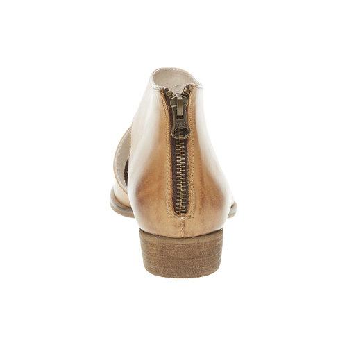 Scarpe di pelle alla caviglia bata, marrone, 594-3259 - 17
