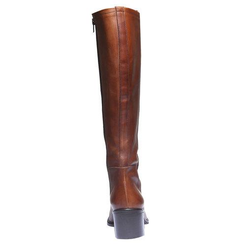 Stivali di pelle bata, marrone, 694-3252 - 17