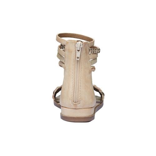 Sandali con cinturini attorno alla caviglia bata, beige, 561-8298 - 17