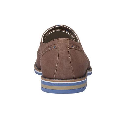 Scarpe basse di pelle con suola colorata bata, marrone, 826-4839 - 17
