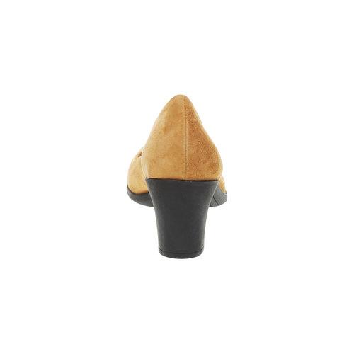 Décolleté di pelle flexible, marrone, 623-3393 - 17