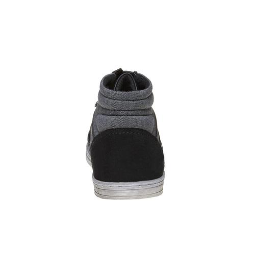 Sneakers informali alla caviglia bata, nero, 841-6694 - 17