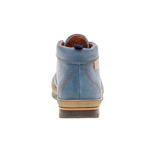 Scarponcino sportivo in pelle weinbrenner, blu, 896-9209 - 17