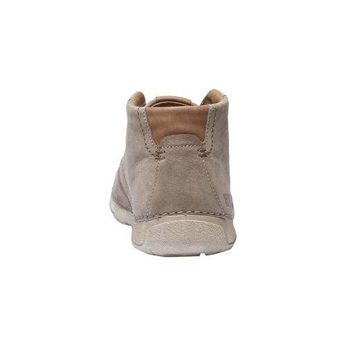 Scarpe di pelle alla caviglia weinbrenner, beige, 896-2442 - 17