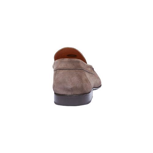 Mocassini da uomo in pelle shoemaker, marrone, 813-4149 - 17