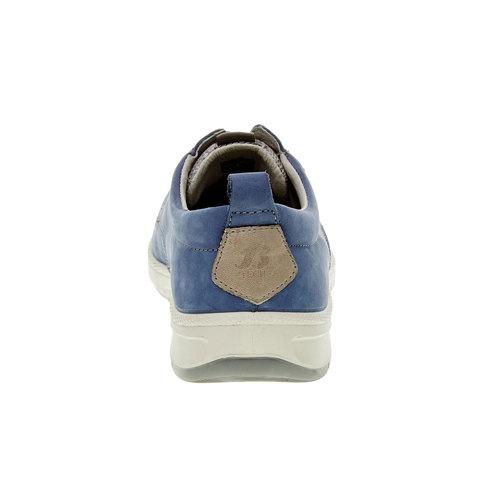 Scarpe basse informali di pelle bata-tech, blu, 843-9630 - 17