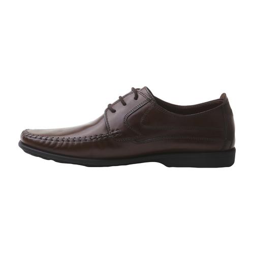 Scarpe in pelle con lacci bata-comfit, marrone, 854-4836 - 15