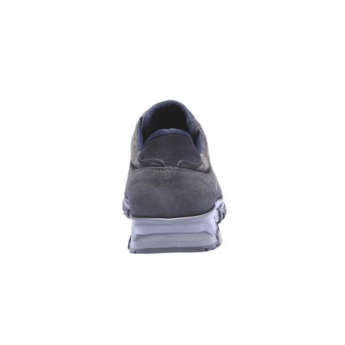 Sneakers di pelle bata, grigio, 843-2449 - 17