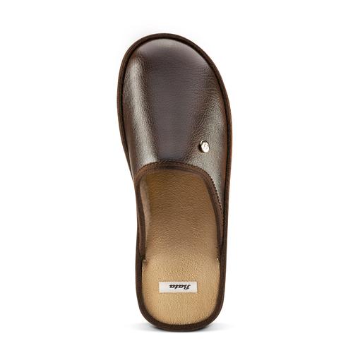 Pantofole da uomo con punta chiusa bata, marrone, 871-4304 - 15